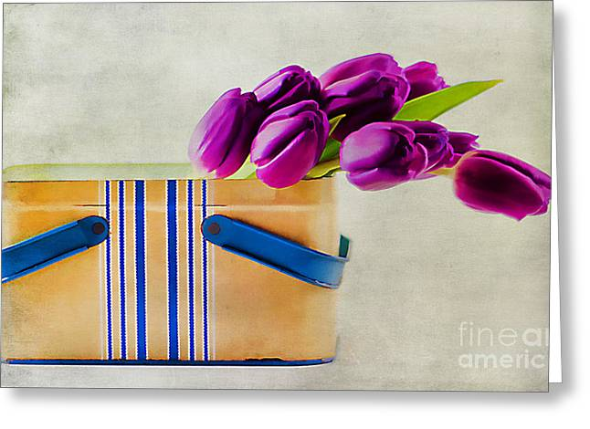 Lunch Box Greeting Cards - Tulips for Mom Greeting Card by Darren Fisher