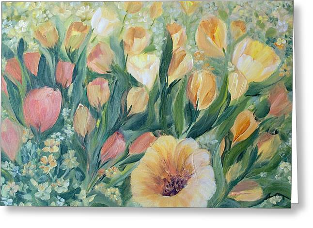 Tulips I Greeting Card by Joanne Smoley