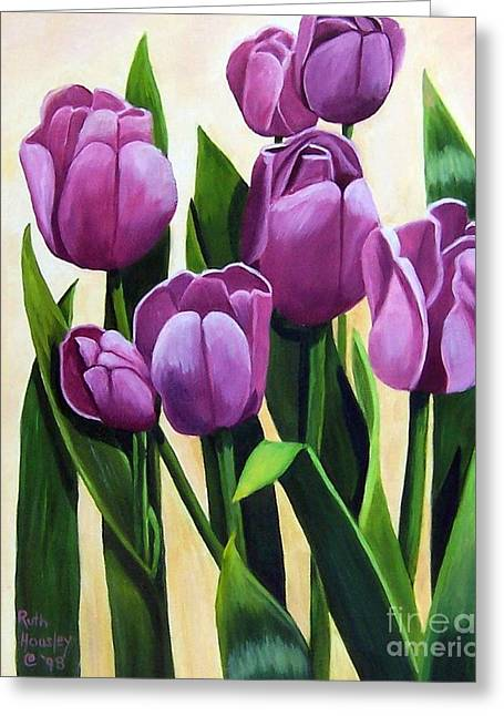 Ruth Housley Greeting Cards - Tulips in Bloom Greeting Card by Ruth  Housley