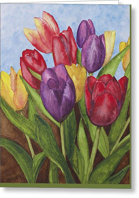 Spring Bulbs Greeting Cards - Tulips Greeting Card by Julie Myers