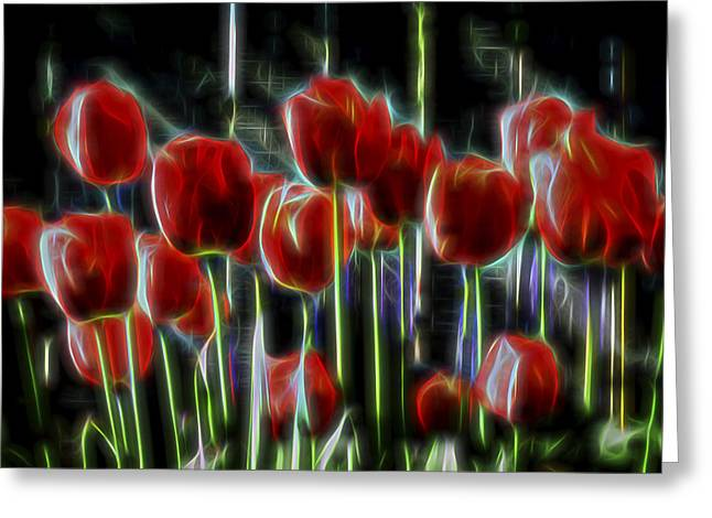 Tulips Greeting Card by Kelley King