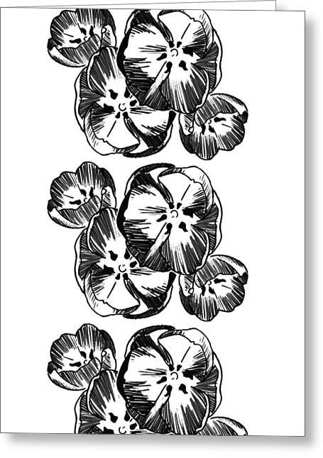 Repeat Drawings Greeting Cards - Tulips Greeting Card by Rachel Moden