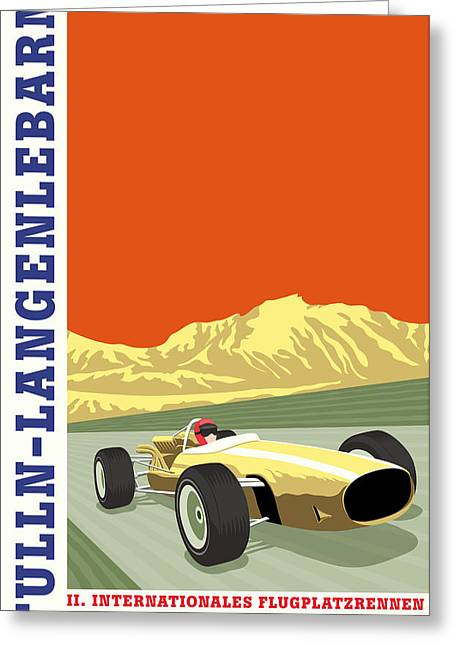 Icon Reproductions Greeting Cards - Tulln langenlebarn Formula 2 1967 Greeting Card by Nomad Art And  Design