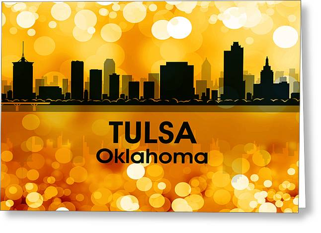 Industrial Icon Greeting Cards - Tulsa OK 3 Greeting Card by Angelina Vick