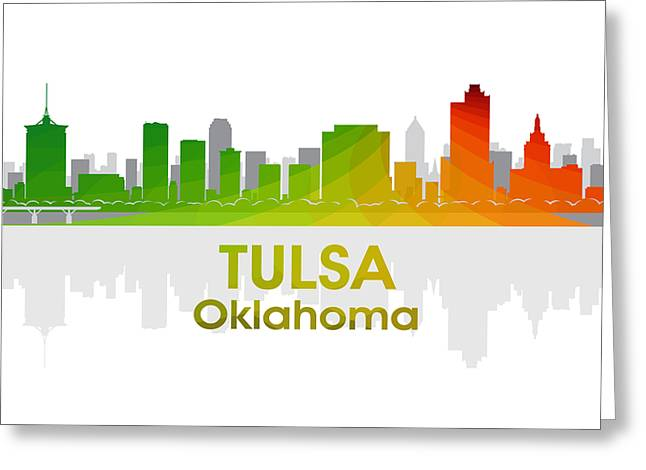 Industrial Icon Greeting Cards - Tulsa OK Greeting Card by Angelina Vick