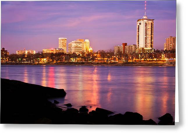 Tulsa Oklahoma - University Tower View Greeting Card by Gregory Ballos
