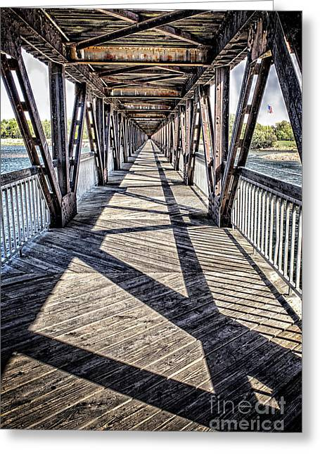 Tulsa Pedestrian Bridge Greeting Card by Tamyra Ayles