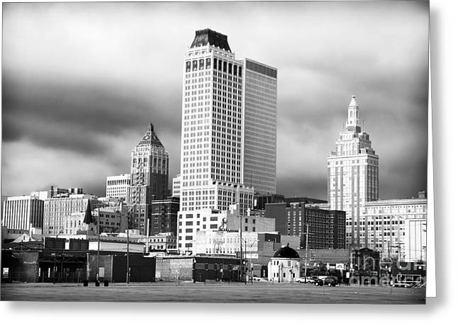 Iconic Places Greeting Cards - Tulsa Rising Greeting Card by John Rizzuto