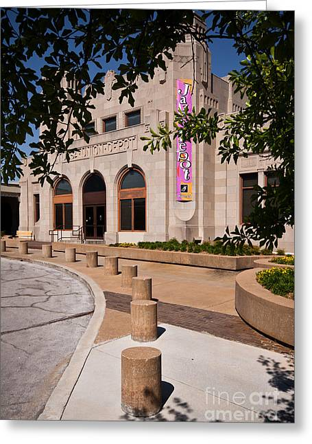 Public Administration Greeting Cards - Tulsa Union Depot Greeting Card by Lawrence Burry