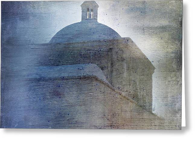 Southwest Church Greeting Cards - Tumacacori Afternoon Greeting Card by Sandra Bronstein