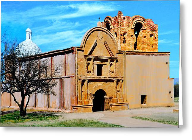 Historic Site Greeting Cards - Tumacacori National Historical Park Greeting Card by  Bob and Nadine Johnston