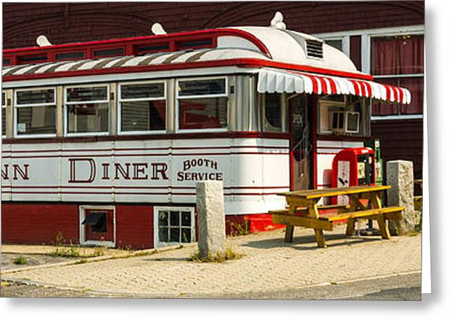 Diner Greeting Cards - Tumble Inn Diner Claremont NH Greeting Card by Edward Fielding