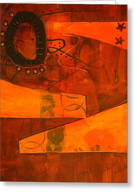 Tumble Greeting Card by Nancy Merkle