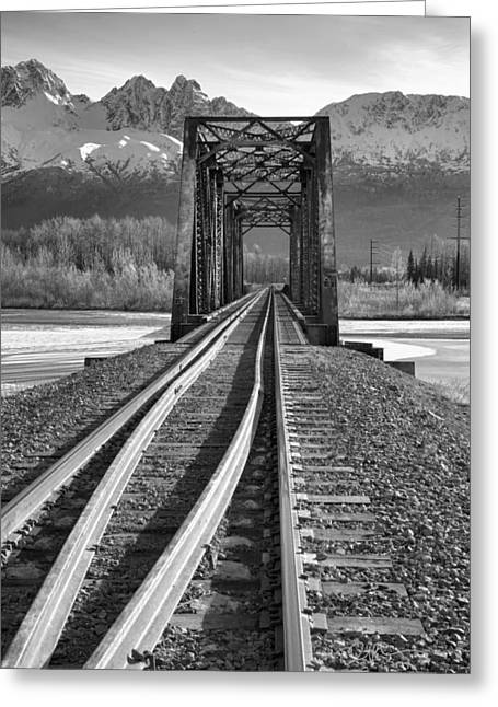 Railroad Bridge Greeting Cards - Tumbler Greeting Card by Ed Boudreau