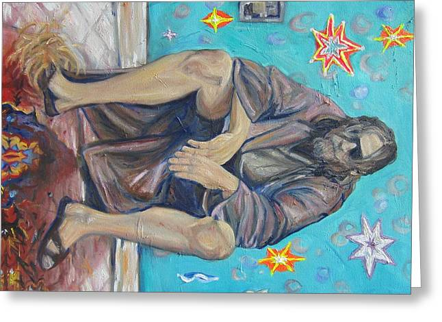 Big Lebowski Paintings Greeting Cards - Tumbleweeds Greeting Card by Hannah Curran