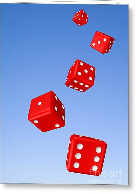 Rotate Photographs Greeting Cards - Tumbling Dice and Sky Greeting Card by Colin and Linda McKie
