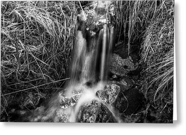 Tumbling water Greeting Card by John Farnan