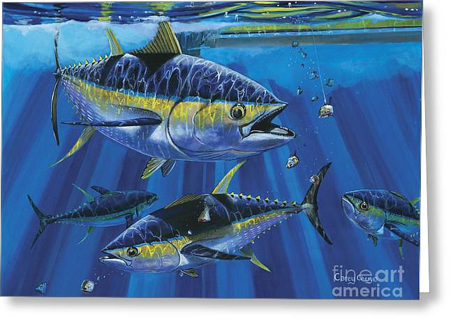 Morehead Greeting Cards - Tuna Blitz Off0039 Greeting Card by Carey Chen
