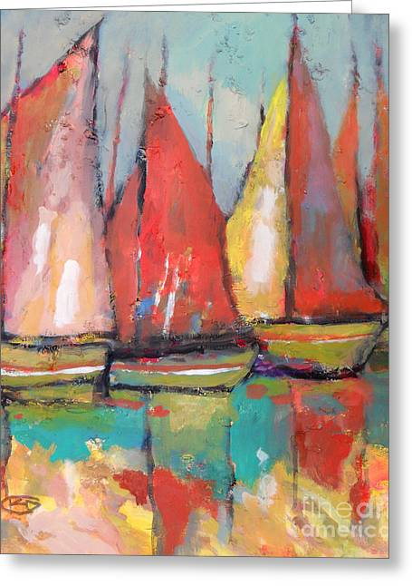 Edgar Payne Greeting Cards - Tuna Boats Greeting Card by Kip Decker