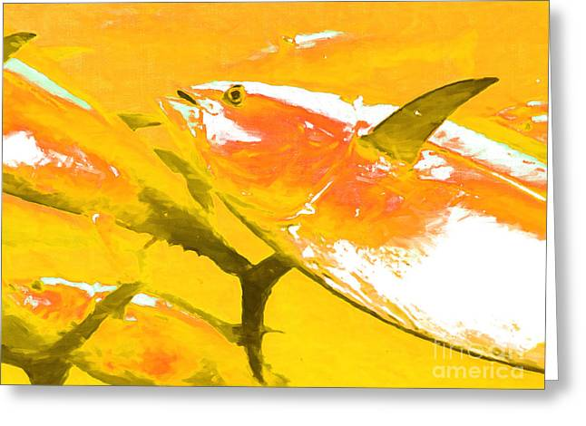 School Of Fish Greeting Cards - Tuna Fish m54 Greeting Card by Wingsdomain Art and Photography