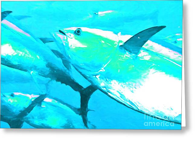 Albacore Greeting Cards - Tuna Fish p88 Greeting Card by Wingsdomain Art and Photography
