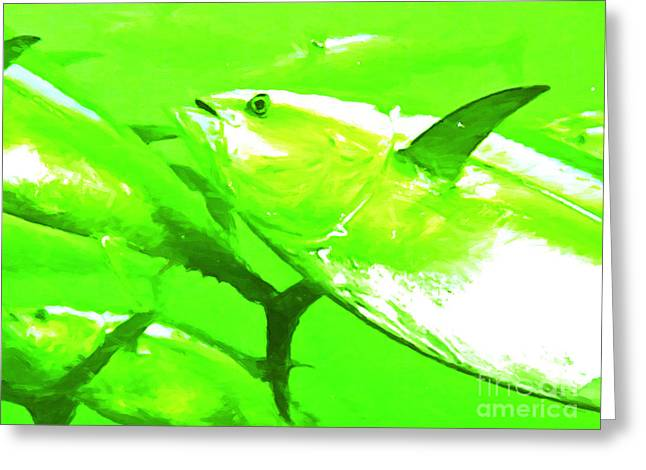 Albacore Greeting Cards - Tuna Fish Greeting Card by Wingsdomain Art and Photography