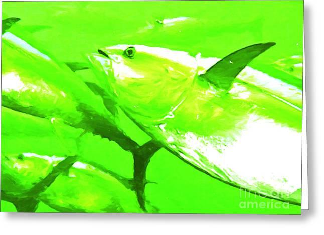 Tuna Digital Greeting Cards - Tuna Fish Greeting Card by Wingsdomain Art and Photography
