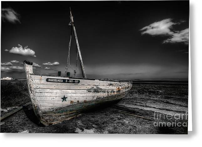 Wooden Ship Greeting Cards - Tuna Fishing Boat Greeting Card by English Landscapes