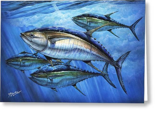 Tuna Greeting Cards - Tuna In Advanced Greeting Card by Terry Fox