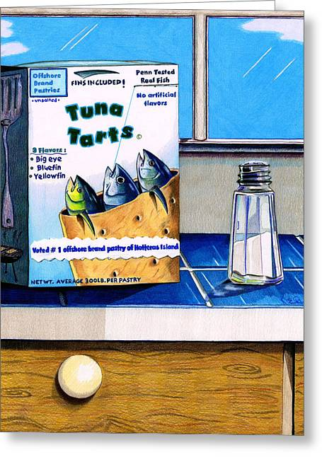 Fishing Tournaments Greeting Cards - Tuna Tarts Greeting Card by Karen Rhodes
