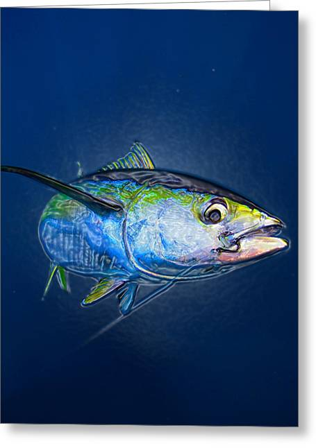 Striped Marlin Greeting Cards - Tuna Wrap Greeting Card by Lina Tricocci