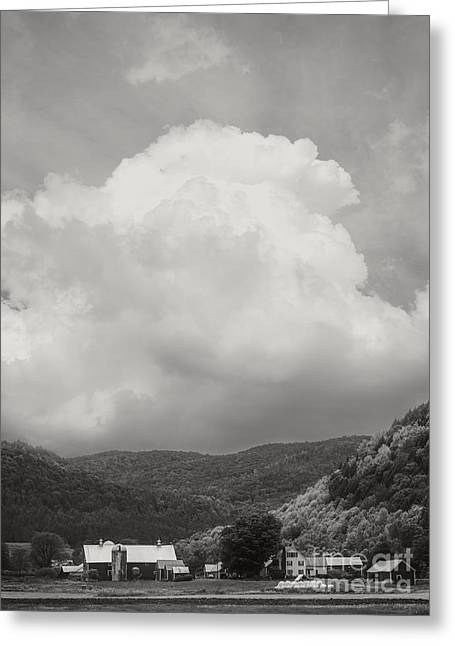 Field. Cloud Greeting Cards - Tunbridge Vermont Farmscape Greeting Card by Edward Fielding