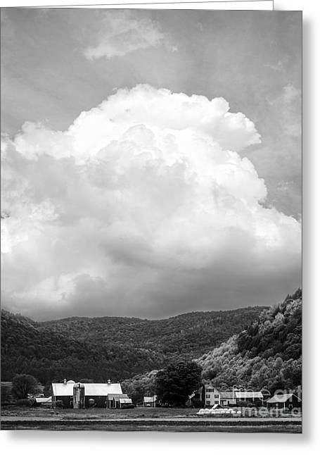 Weathered Barn Greeting Cards - Tunbridge Vermont Storm Cloud Open Edition Greeting Card by Edward Fielding