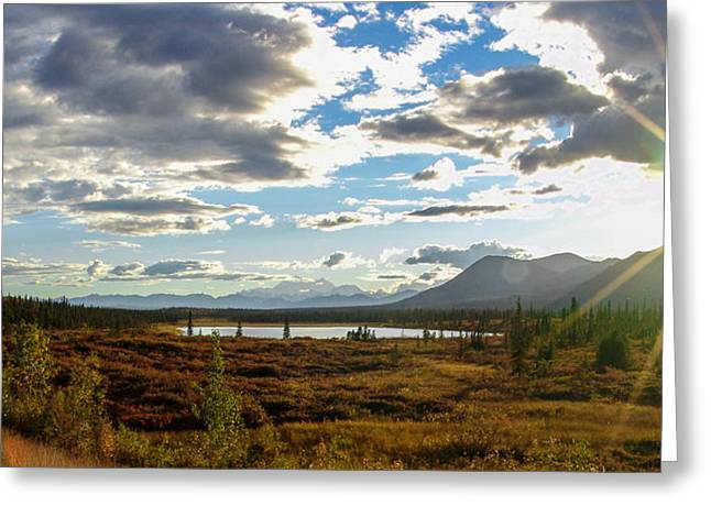 Highway Greeting Cards - Tundra Burst Greeting Card by Chad Dutson