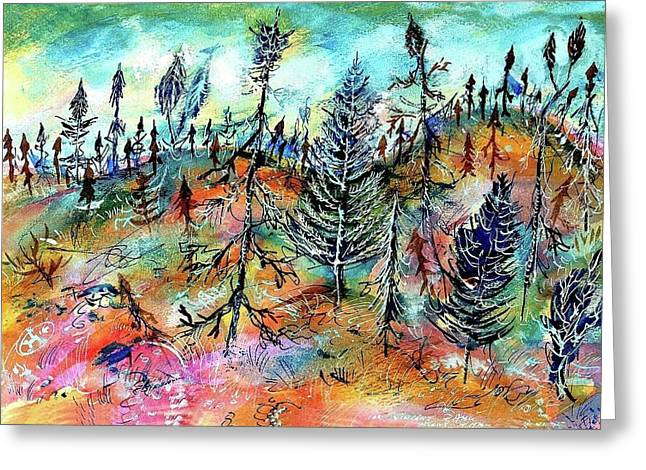 Ion Vincent Danu Greeting Cards - Quebec Taiga Landscape Greeting Card by Ion vincent DAnu