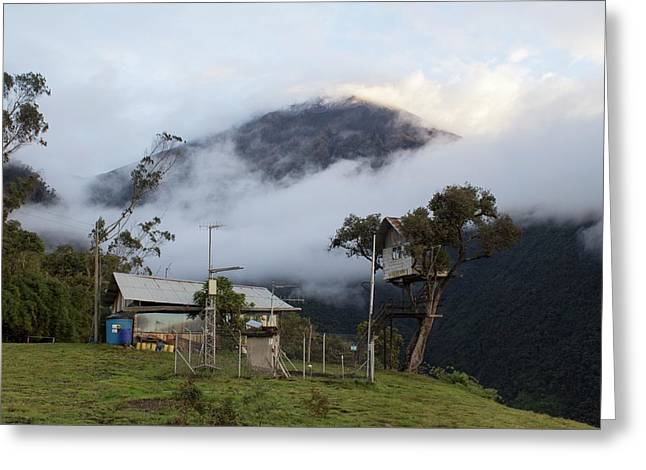 Tungurahua Volcano Greeting Card by Dr Morley Read