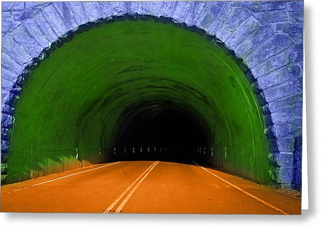Tunnel Greeting Card by Betsy C Knapp