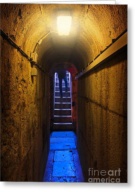Murderer Greeting Cards - Tunnel Exit Greeting Card by Carlos Caetano