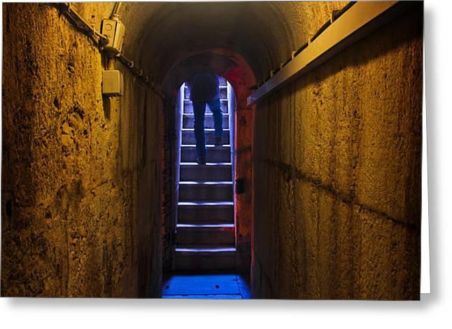Tunnel Exit Greeting Card by Carlos Caetano