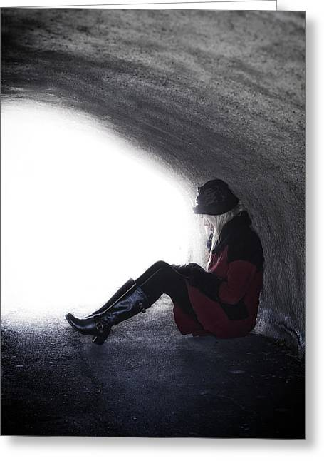Bleak Greeting Cards - Tunnel Greeting Card by Joana Kruse