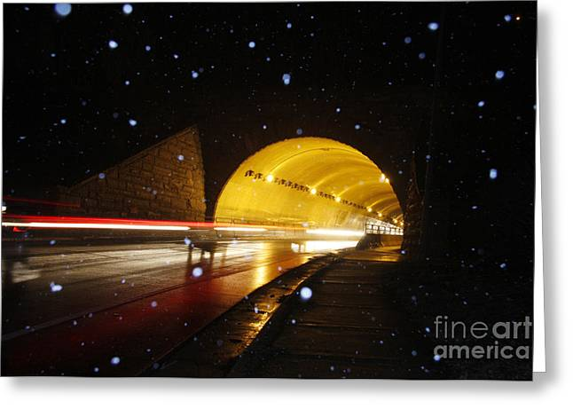 Jonathan Welch Greeting Cards - Tunnel Greeting Card by Jonathan Welch