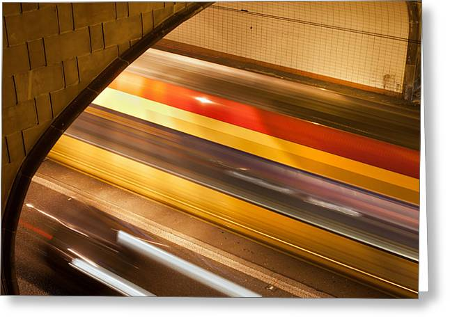Solidarity Greeting Cards - Tunnel Light Trails Greeting Card by Artur Bogacki