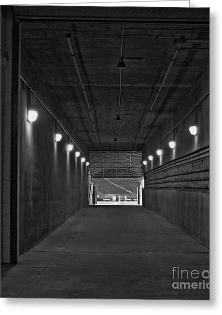 Lambeau Field Greeting Cards - Tunnel of Heroes 2 Greeting Card by Tommy Anderson