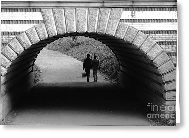 Urban Man Greeting Cards - Tunnel of Love - NYC Central Park Greeting Card by Anahi DeCanio