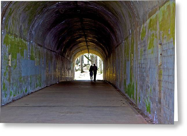 Sausalito Greeting Cards - Tunnel of Love Greeting Card by SC Heffner