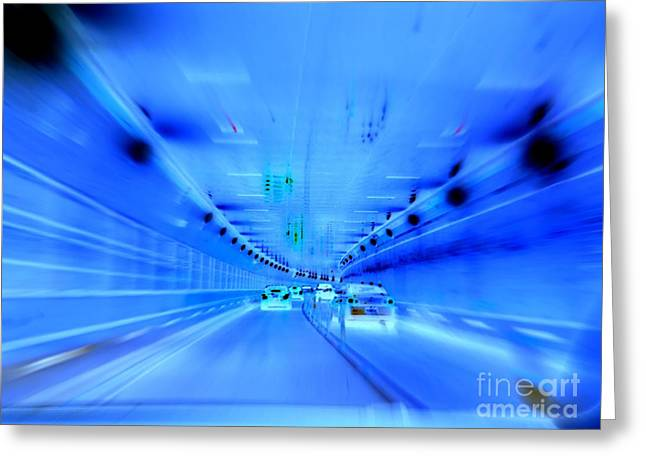 Tunnel Tension Greeting Card by Ed Weidman