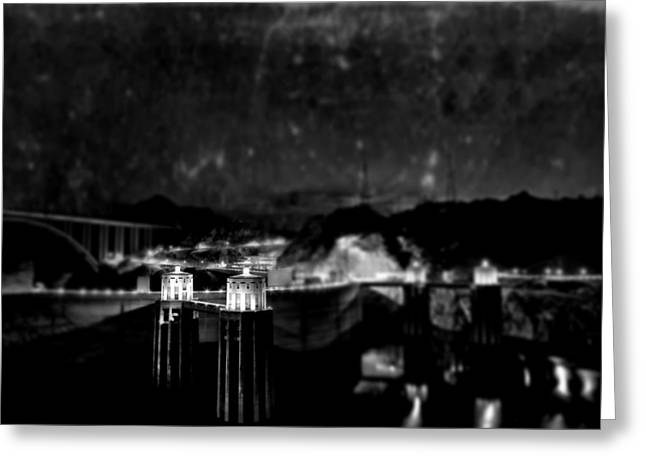 Hoover Dam Greeting Cards - Tunnel Through Twilight Greeting Card by Mark Ross