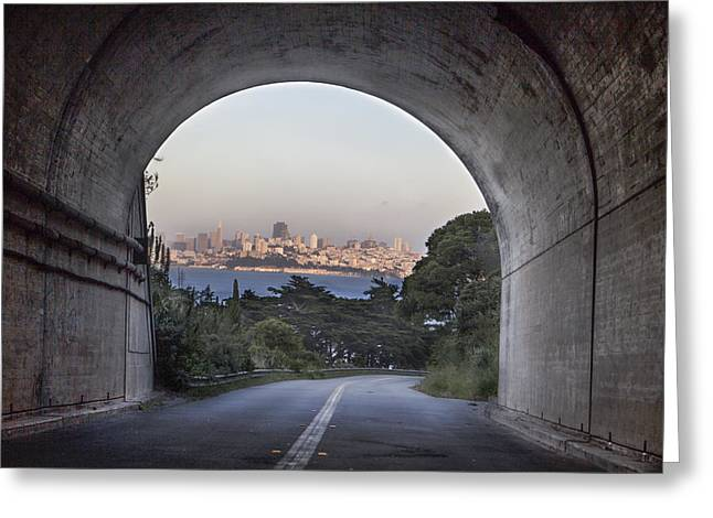 San Fransico Greeting Cards - Tunnel to San Fransico Greeting Card by John McGraw