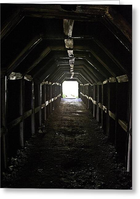 Light At The End Of The Tunnel Greeting Cards - Tunnel to the Sea Greeting Card by Lynn Andrews