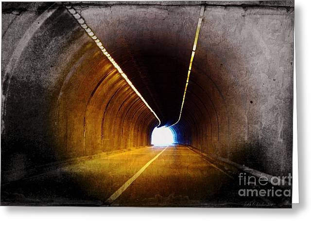 Roadway Greeting Cards - Tunnel Vision Greeting Card by Barbara Chichester